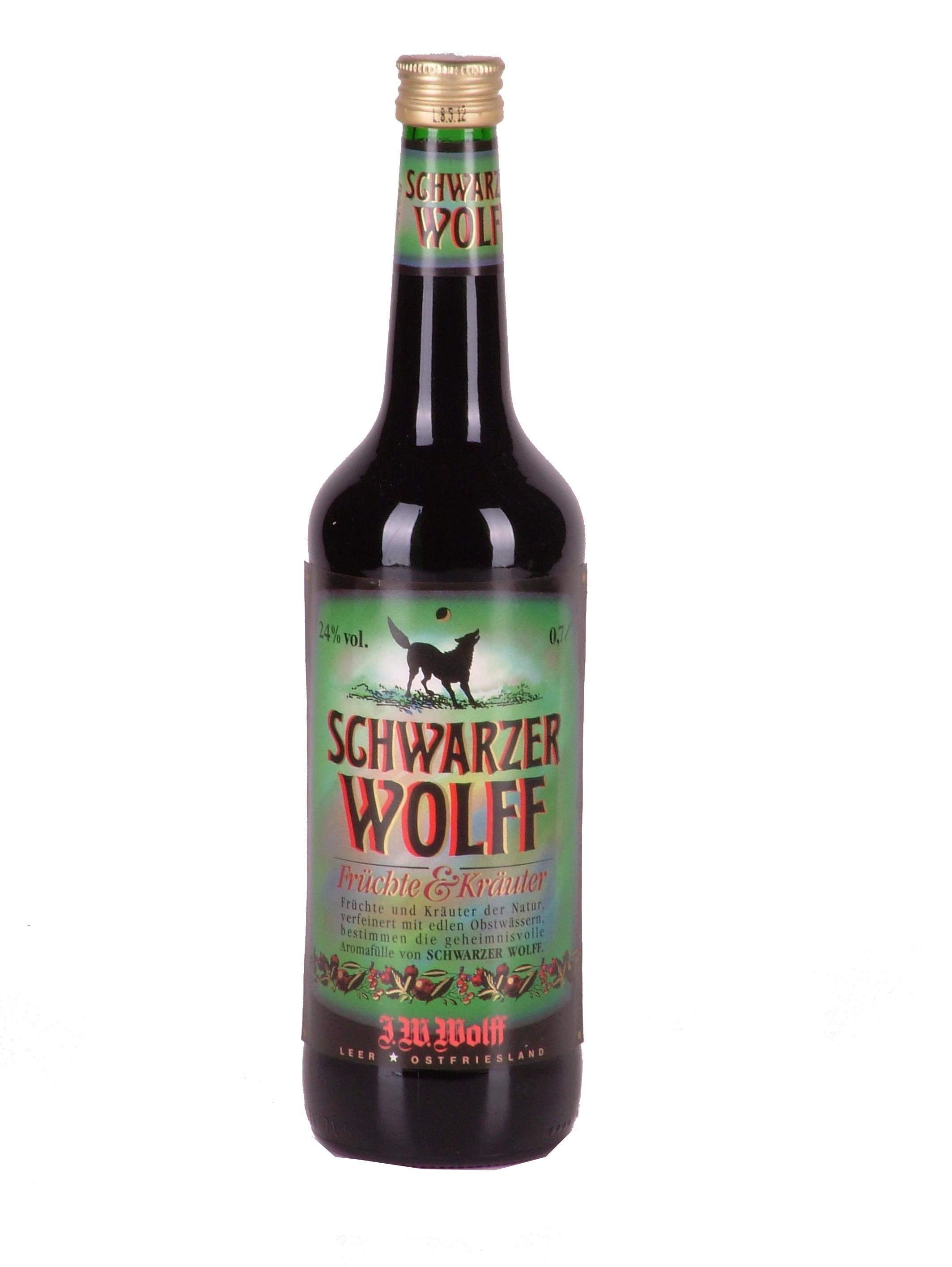 Schwarzer Wolff 24% vol. Früchte und Kräuter - Wein Wolff